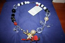 Erika Walton Wile E Coyote Vintage Style Handmade Necklace-Swarovski crystals