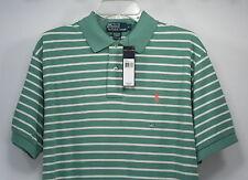 Men's Ralph Lauren Polo -  Green Striped Mesh Polo Shirt - Large - NWT