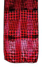 SCARF Long Black & Red Classic Year Round Look HOUNDSTOOTH BLOCKS