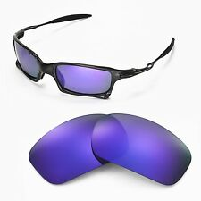 New Walleva Polarized Purple Replacement Lenses For Oakley X-Squared Sunglasses