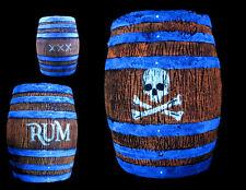 Barrel Keg Blacklight Pirate Western Saloon Rum Gun Powder Halloween skull jack