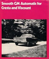 Vauxhall Cresta & Viscount PC Automatic 1971-72 UK Market Foldout Sales Brochure