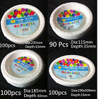 Party Plastic Disposable White Plates Bowls Tableware Bulk Supplies For Dinner