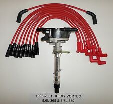 CHEVY VORTEC  5.7L/350 5.0L/305 Distributor 1996-2001 + RED Spark Plug Wires USA