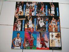 Washington Bullets Sports Card Sheet - SGA - Features 11  1995-96 Players