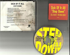 SICK OF IT ALL Step Down w/ RARE UNRLEASED TRX & EDIT PROMO RADIO DJ CD Single