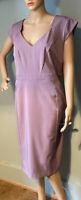 Dorothy Perkins Womens Pencil Bodycon Stretch Dress U.K. Size 18 Lilac BNWT