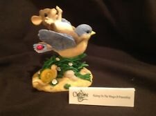 "Dean Griff Charming Tails ""Riding on the Wings of Friendship"" Mouse on Blue bird"