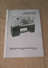 Colchester Student 1800 Lathe Manual