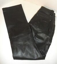 "WILSONS - MAXIMA Women's BIKER MOTORCYCLE BLACK 100% Leather Pants 26"" Waist"