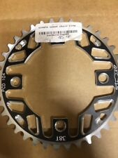 NEW Azonic single speed chainring - 104mm 38t 4 bolt - silver/black