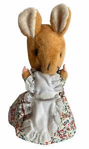 """Vintage Beatrix Potter Lady Mouse Plush Eden Toy Peter Rabbit 11"""" apron"""