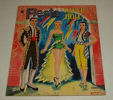 Vintage Saalfield Paper Dolls FIESTA Mexico & South America Uncut Complete