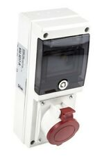RS Pro IP44 Red Female 3P+N+E RCD Socket Rated At 32A, 400V 632.3217-R