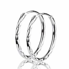 925 Sterling Silver Circle Earrings Endless Round pierced EAR Hoop Earrings