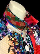 $398 Robert Graham LIMITED Floral Abstract Luxury Casual Dress Shirt Men's 2XL