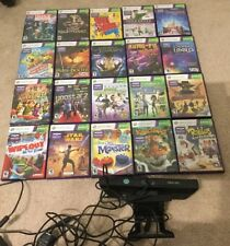 Microsoft Xbox 360 Kinect Camera Bundle Huge Lot 21 Games - Excellent Condition