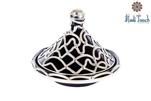 MOROCCAN BLACK SERVING TAGINE EXQUISITE CERAMIC 5 INCHES