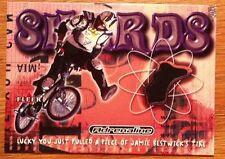 Jamie Bestwick BMX Shards Event-Used Tire Trading Card 2000 Fleer Adrenaline