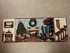 """Vintage Tapestry """"Deck The Halls""""  Table Runner--New without tag"""