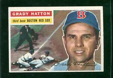 "1956 Topps #26    Grady Hatton    Red Sox   ""clean white back""    LOOK"