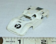 AURORA THUNDER JET T-JET JIM HALL CHAPARRAL F2 HO SLOT CAR BODY 1960s IN WHITE