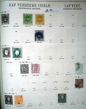 schöne hochwertige Briefmarkensammlung Kap Verdische Inseln ab 1877