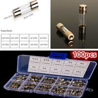 Pack of 100  5 x 20MM Fast Blow Glass Tube Fuses - Quick Blow - 200mA - 15Amp