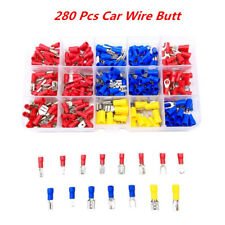 280Pc Insulated Terminals Spade Ring Car Wire Electrical Butt Connectors Box Kit