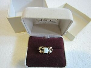 Landstrom's Black Hills Gold Opal Ring Size 5 1/2