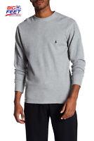 Size Small Polo Ralph Lauren Thermal Waffle Knit Crewneck Long Sleeve Shirt Gray