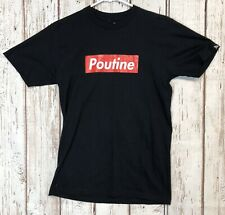 Main and Local Poutine Black Tshirt Graphic Funny #H519
