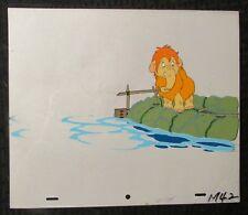 "1993 CRO Cartoon Wooly Mammoth Animation 12.5x10.5"" Cel & Drawing M-42"
