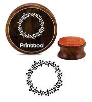 Printtoo Blumenkranz Runde Crafting Holz Stempel Schrott-Anmeldung Briefmarken