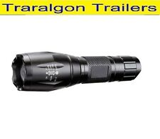 LED CREE light five function zoomable torch 500m 1000lm Rechargeable 12v LT238