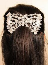 White Magic Flower Double Comb Stretchy Hair Syling Clip brand new Spring Offer