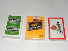 Stroh's, Miller, Heineken  Beer Playing Cards 3 decks