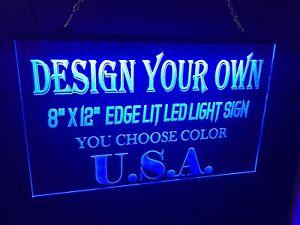 Led Neon Light Sign 8x12 Personalized Full Custom For Bus Game Room  Garage