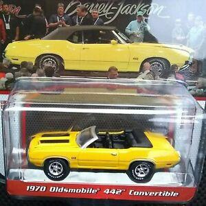 1970 Oldsmobile 442 Convertible Yellow Barrett Jackson GREENLIGHT DIECAST 1/64