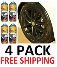 4 X Matte Black  Plasti Dip 13.5 oz Spray Can Rubber Coating Removable