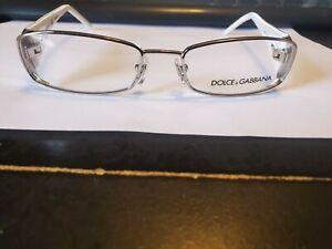 NEW Dolce Gabbana DD5037 062 RX Glasses Silver & White 50-16-135 (Small)