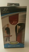 NEW EastPoint Soft Billiard Pool Stick Cue Case Red 58 in or Less Carry Strap