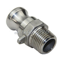 1/2'' MPT Type F Adapter Camlock Fitting Stainless Steel 304 for Homebrew