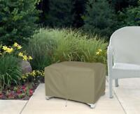 Ottoman Patio Furniture Cover | Waterproof Outdoor Protection | Large