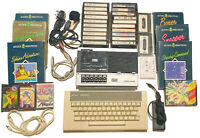 Acorn Electron Computer - Tape Recorder - Leads & Games - TESTED + WORKING