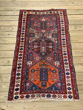 Antique Dated Caucasian Kazak Gendje Collectors Rug 3.6x6.2 Ft