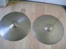 "15"" Vintage 50s no dot stamp Avedis Zildjian Cymbals 930g 955g HiHats or Crash"