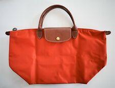 New Authentic LONGCHAMP LE PLIAGE TYPE M Medium Nylon Short TOTE Handle Bag