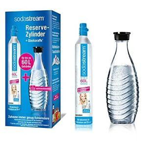 SodaStream Reservepack mit 1x CO2-Zylinder und 1x 06 L Glaskaraffe