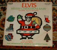 Elvis Presley 45 Single Picture Sleeve Merry Christmas Baby